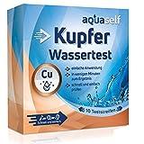 aquaself Wassertest Kupfer: 10 Teststreifen zum Nachweis von Kupfer im Wasser. Ideal zur schnellen Überprüfung der Wasserqualität.