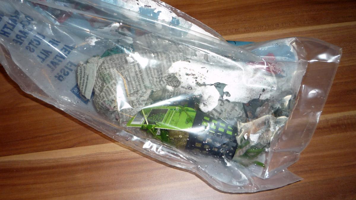 eingepackte Aquariumpflanzen bei Garnelio