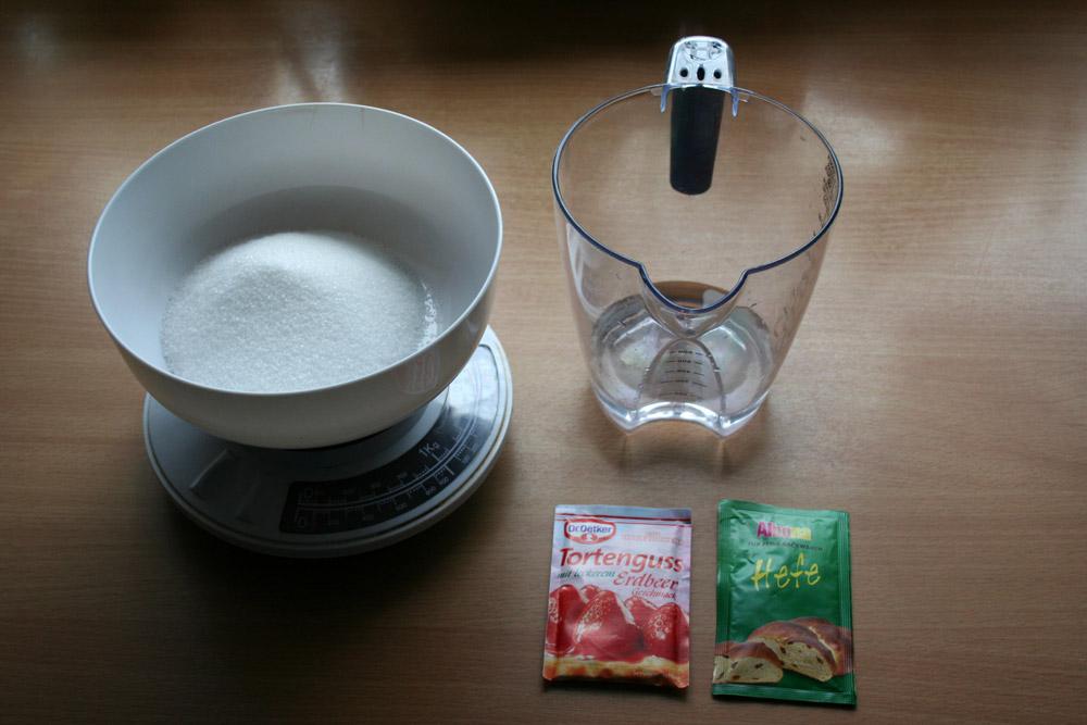 Bio-CO2-Rezept – eigene Mischung mit Tortenguss, Hefe und Zucker